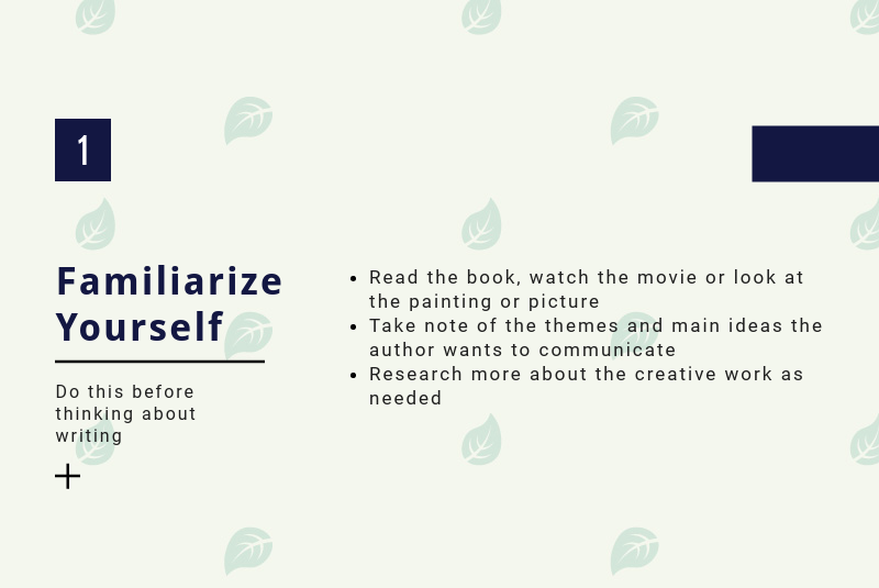 How to Familiarize Yourself with the Creative Piece